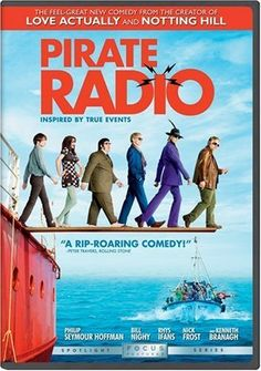 Pirate Radio - Philip Seymour Hoffman, Bill Nighy, Rhys Ifans, Nick Frost, Kenneth Branagh, Tom Sturridge, Rhys Darby. LOVE