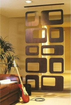 Modern Contemporary Hanging Room Divider Screen