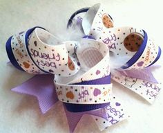 hair bow bff bow milk and cookie baby or girl bow by sunbows, $4.99