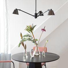 verstellbare LED Pendel Hänge Lampen  4-flammige Wohn Schlaf Ess Zimmer Leuchten