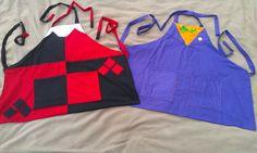 Joker/Harley Quinn Couple Apron Set by hatzNthangz on Etsy, $49.99. Joker apron, Harley Quinn apron, Nerdy apron, Couple aprons set