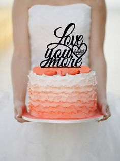 Hey, I found this really awesome Etsy listing at https://www.etsy.com/listing/217627785/love-you-more-wedding-cake-topper