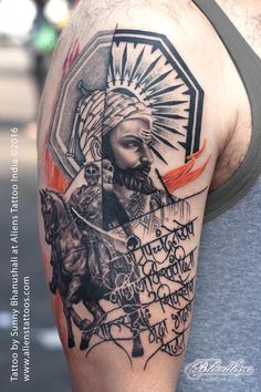 Chatrapati Shivaji Tattoo by Sunny Bhanushali at Aliens Tattoo India. I always wanted to work on Shivaji Maharaja's painting, however gotta chance to work on this tattoo. Client wanted to get tattoo of Chattrapati Shivaji on his arm. He had some references from google search, however he was interested in copying any of them. He visited many tattoo studios looking for the right tattoo artist to execute his tattoo design requirement. After looking at our tattoo portfolio he gave me all…
