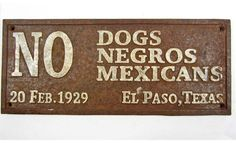 Jim Crow Laws.