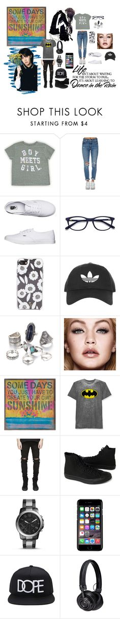 """""""Sunshine and dance"""" by owls388 ❤ liked on Polyvore featuring Levi's, Vans, Kate Spade, Topshop, WALL, Natural Life, Hybrid, Converse, FOSSIL and Off-White"""