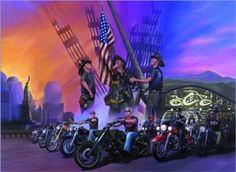 """""""August in Sturgis"""" - Limited Editions - All Artwork - Michael Knepper - Motorcycle Art 