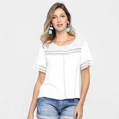 Blusa Colcci Rendada - Off White R$ 170,50