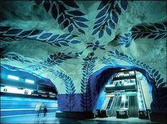 World Most Amazing Interior Design Of Subway Stations - Stockholm Metro Station