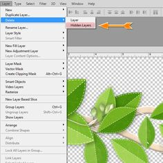 Deleting Hidden Layers in Photoshop