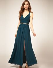 Warehouse Halter Maxi Dress