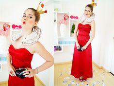 Fasching Kostüme -damen-make-up-anleitung-herzkoenigin-spielkarte-outfit