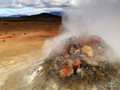 Hot sulphur fumarole - Namaskard, Iceland.