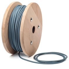 Smoky blue textile cable by cablelovers.com