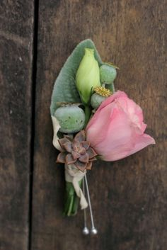 Groom's boutonniere, July