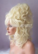 Light Blonde High Cone Beehive Curls Drag Shoulder Length Womens Casha Wig Layers kalon fibre no Lace Front Wigs Free deliver-in Synthetic Wigs from Health & Beauty on Aliexpress.com | Alibaba Group