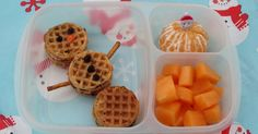 BentoLunch.net - What's for lunch at our house: Waffle-wich Snowman Bento