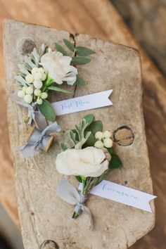 Photographed by Anna Roussos, this summer Greek wedding had an organic color palette of greens, blues, navy, ivory, gray and gold.