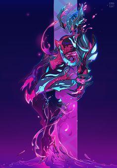 Neon Nidus by steelsuit on DeviantArt Fantasy Character Design, Character Design Inspiration, Character Concept, Character Art, Creature Concept Art, Creature Design, Fantasy Kunst, Fantasy Art, Cyberpunk Kunst