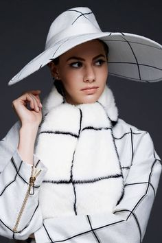 Emma Ferrer in Tod's jacket and hat