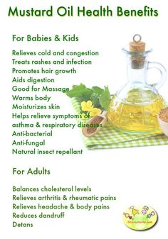 Sarson ka Tel/Mustard Oil Benefits for Babies, Kids & Adults