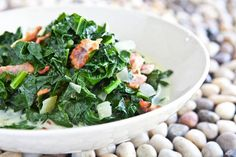 Kale and Bacon, Caribbean Style ~ http://steamykitchen.com