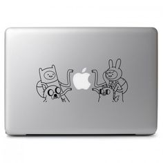 "Adventure Time Cartoon Vinyl Decal Sticker Skin for Apple Macbook Air & Pro 11"" 13"" 15"" 17"" / Car / Laptop / Notebook / Chromebook / Tablet / Ultrabook / Window / Wall / Outside"