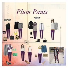 """Plum Pants"" by virgojen on Polyvore featuring BasicGrey, Pieces, A.L.C., Valentino, Ted Muehling, Juicy Couture, John Lewis, Joie, Moschino and River Island"