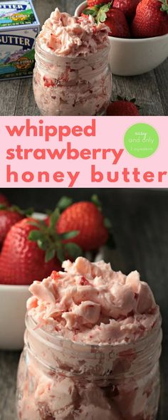 Whipped Strawberry Honey Butter combines butter, honey and fresh strawberries to make this classic fruit flavored butter. Easy delicious farm fresh food. Flavored Butter, Butter Recipe, Homemade Butter, Strawberry Recipes, Whipped Strawberry Butter, Whipped Butter, Salsa Dulce, Sweet Butter, Whole Food Diet