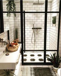 75 Most Popular White Bathroom Design Ideas for 2018 - Di Home Design Basement Bathroom, Bathroom Interior, Master Bathroom, Bathroom Remodeling, Remodel Bathroom, Remodeling Ideas, Bathroom Sinks, Bathroom Black, Bathroom Small