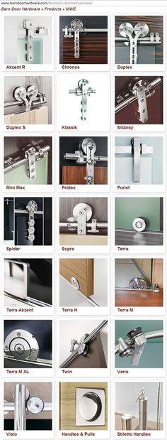 The best DIY projects & DIY ideas and tutorials: sewing, paper craft, DIY. DIY Furniture Plans & Tutorials : variety of track door hardware for doors and showers. Sliding Barn Door Hardware, Sliding Doors, Sliding Door Track, Door Hinges, Door Design, House Design, Track Door, Interior Barn Doors, Home Projects