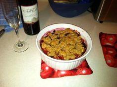 Raspberry/Plum tart, yummy!