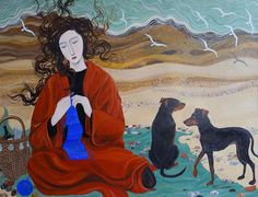 Girl in a Red Blanket by Dee Nickerson