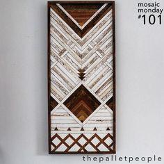 Wood Artwork, Diy Artwork, Wooden Wall Art, Diy Wall Art, Diy Wall Decor, Wood Wall, Wood Mosaic, Mosaic Art, Mosaic Patterns