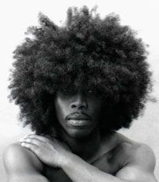 African American Male Rocking An Afro.