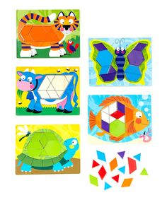 Look at this Melissa & Doug Animal Pattern Block Set on today! Colorful Animals, Little Learners, Pattern Blocks, Wall Collage, Geometric Shapes, Kids Learning, Cute Kids, New Art, Art For Kids