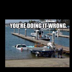 Boating. LMAO!
