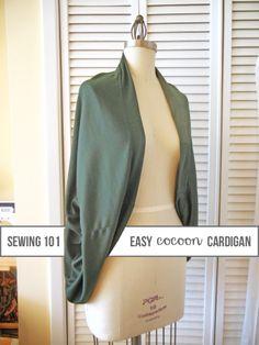 easy, cozy cocoon cardigan