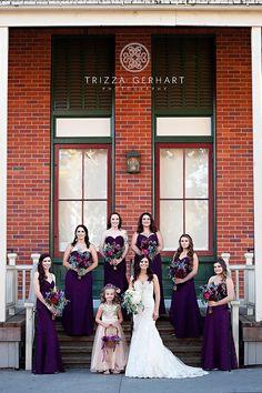 Jewel-toned wedding | bouquets by Visual Impact Design | Sacramento Wedding Flowers |  Trizza Gerhart Photography #purple