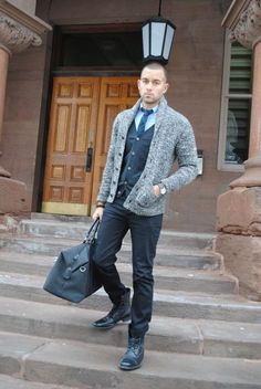 1a9e07f9c19 The shawl collar cardigan is a versatile item that can dress up a casual  outfit. Enjoy our collection of shawl collar cardigan inspiration. Men s  Fashion