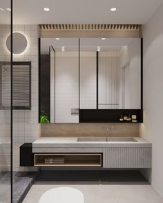 Three Industrial Style Lofts WIth Natural Accents bathroom Contemporary Bathroom Designs, Bathroom Design Luxury, Industrial Bathroom Design, Industrial Kitchens, Bad Inspiration, Bathroom Inspiration, Bathroom Toilets, Small Bathroom, Washroom