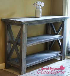 make a custom console table, diy, painted furniture, rustic furniture, woodworking projects