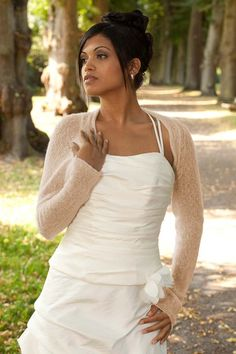 bc6faece273812 Knit Bolero jacket ANNA made of soft yarn - knit couture - for your wedding
