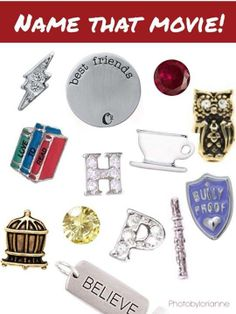 Harry Potter Origami Owl Charms