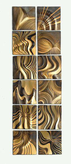 honey ripple tiles natalie blake ceramic wall art artful home