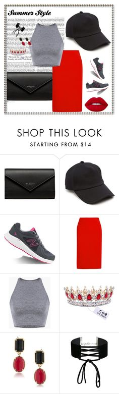 """""""Sem título #183"""" by bear-pretty ❤ liked on Polyvore featuring Balenciaga, rag & bone, New Balance, Dion Lee, 1st & Gorgeous by Carolee, Miss Selfridge and Lime Crime"""