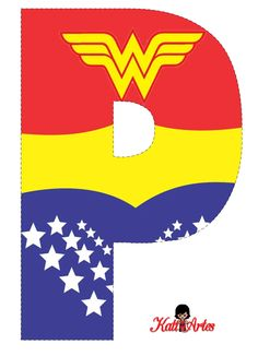 EUGENIA - KATIA ARTES - BLOG DE LETRAS PERSONALIZADAS E ALGUMAS COISINHAS: Alfabeto e Números MULHER MARAVILHA Wonder Woman Birthday, Wonder Woman Party, Women Birthday, First Birthday Parties, First Birthdays, Binder Cover Templates, Wonder Woman Shirt, Girl Superhero Party, Diy Tumblers