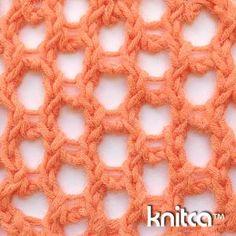 Right side of knitting stitch pattern – Lace 20 : www.knitca.com