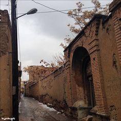 Alley in Sinê City, Province Kurdistan, Iran.