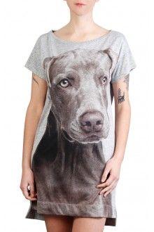 Comprar camiseta-vestido-verao-estampada-com-imagem-weimaraner-usenatureza