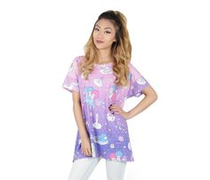 Check out Little Twin Stars x Care Bears Boxy Top: Clouds from Sanrio